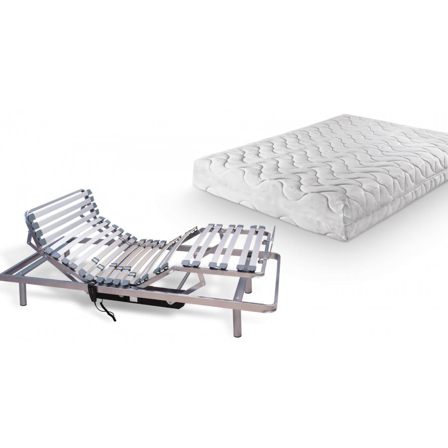 Pack cama articulada + colchón látex