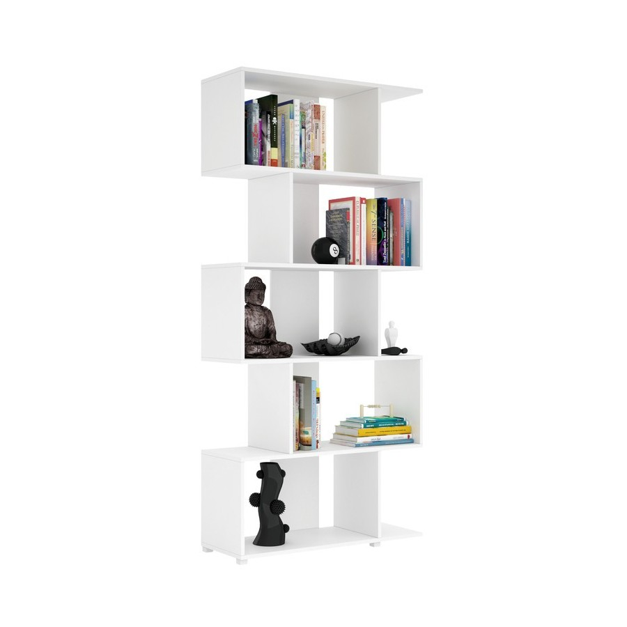 estanteria-librería-cinco-niveles-color-blanco
