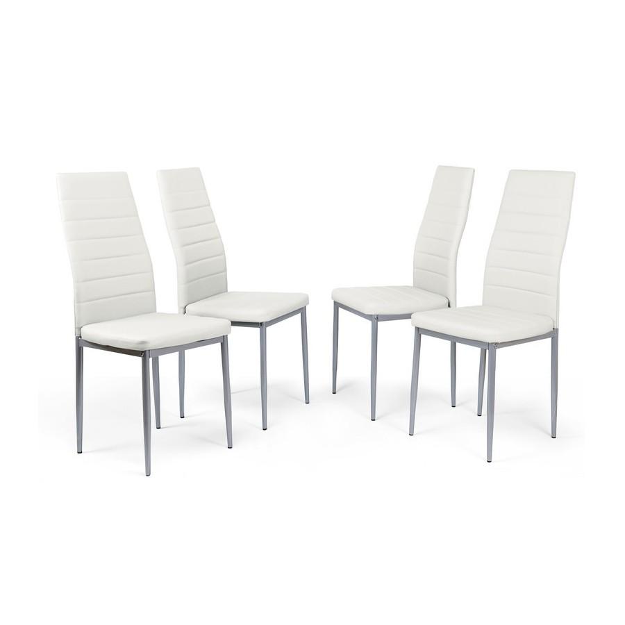 Pack-4-sillas-comedor-Polipiel-cuatro-colores-Patas-color-plata